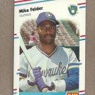 1988 Fleer Baseball Mike Felder Brewers #164