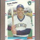 1988 Fleer Baseball Steve Kiefer Brewers #167