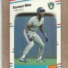 1988 Fleer Baseball Earnest Riles Brewers #172
