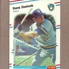 1988 Fleer Baseball Steve Stanicek Brewers #174