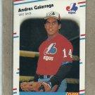 1988 Fleer Baseball Andres Galarraga Expos #184