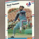 1988 Fleer Baseball Floyd Youmans Expos #201