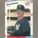 1988 Fleer Baseball Brad Armstrong Yankees #202
