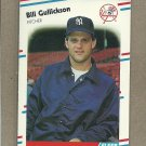 1988 Fleer Baseball Bill Gullickson Yankees #208