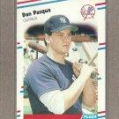 1988 Fleer Baseball Dan Pasque Yankees #217
