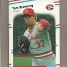 1988 Fleer Baseball Tom Browning Reds #228