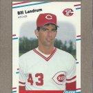 1988 Fleer Baseball Bill Landrum Reds #238