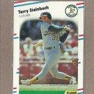 1988 Fleer Baseball Terry Steinbach A's #294