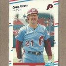 1988 Fleer Baseball Greg Gross Phillies #302
