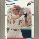 1988 Fleer Baseball Von Hayes Phillies #304