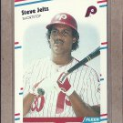 1988 Fleer Baseball Steve Jeltz Phillies #308