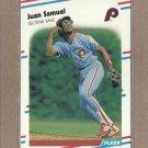 1988 Fleer Baseball Juan Samuel Phillies #314