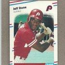 1988 Fleer Baseball Jeff Stone Phillies #317