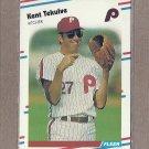1988 Fleer Baseball Kent Tekulve Phillies #318