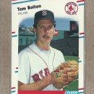 1988 Fleer Baseball Tom Bolton Red Sox #346