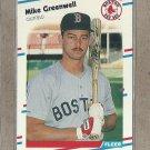 1988 Fleer Baseball Mike Greenwell Red Sox #354