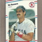 1988 Fleer Baseball Ed Romero Red Sox #362