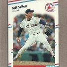 1988 Fleer Baseball Jeff Sellers Red Sox #366