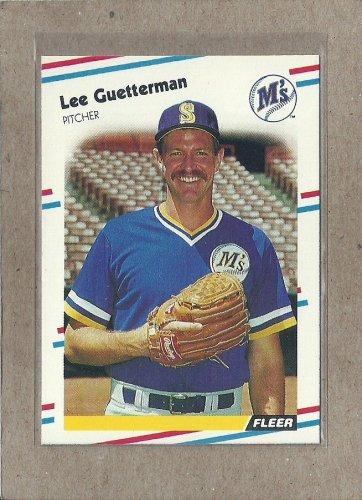 1988 Fleer Baseball Lee Guetterman Mariners #374