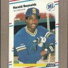 1988 Fleer Baseball Harold Reynolds Mariners #388