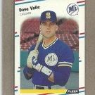 1988 Fleer Baseball Dave Valle Mariners #389