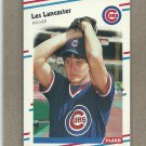 1988 Fleer Baseball Les Lancaster Cubs #421