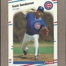1988 Fleer Baseball Scott Sanderson Cubs #432