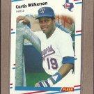 1988 Fleer Baseball Curtis Wilkerson Rangers #481
