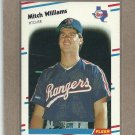 1988 Fleer Baseball Mitch Williams Rangers #482
