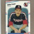 1988 Fleer Baseball Willie Fraser Angels #490