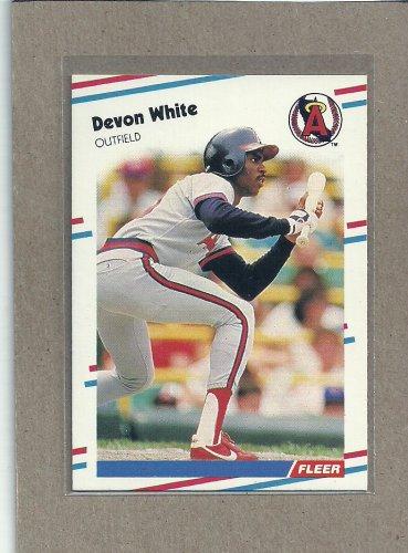 1988 Fleer Baseball Devon White Angels #506