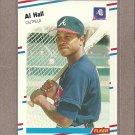 1988 Fleer Baseball Al Hall Braves #541