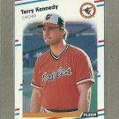 1988 Fleer Baseball Terry Kennedy Oriles #563