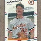 1988 Fleer Baseball Mark Williamson Orioles #574