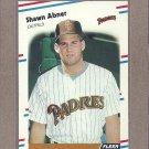1988 Fleer Baseball Shawn Abner Padres #576