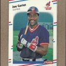 1988 Fleer Baseball Joe Carter Indians #605