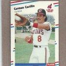 1988 Fleer Baseball Carmen Castillo INdians #606