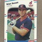 1988 Fleer Baseball Brian Dorsett Indians #607