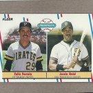 1988 Fleer Baseball Rookies Fermin & Reid #643