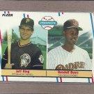 1988 Fleer Baseball Rookies King & Byers #653