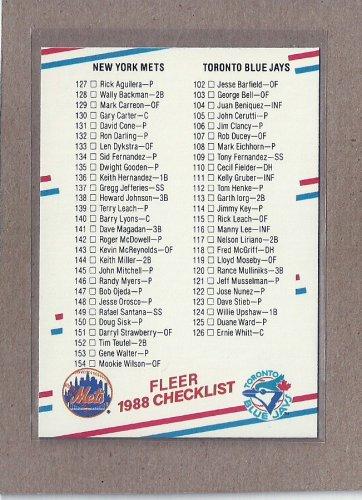 1988 Fleer Baseball Checklist #656