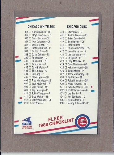 1988 Fleer Baseball Checklist #658