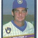 1986 Donruss Baseball Paul Molitor Brewers #124