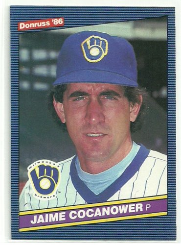 1986 Donruss Baseball Jaime Cocanower Brewers #393