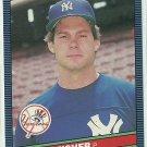 1986 Donruss Baseball Brian Fisher RC Yankees #492