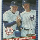 1986 Donruss Baseball Knuckle Brothers #645