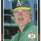 1985 Donruss Baseball Keith Atherton A's #340