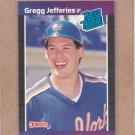 1989 Donruss Baseball Gregg Jefferies Mets #35