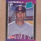 1989 Donruss Baseball Luis Medina Indians #36