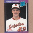 1989 Donruss Baseball Pete Harnisch RC Orioles #44
